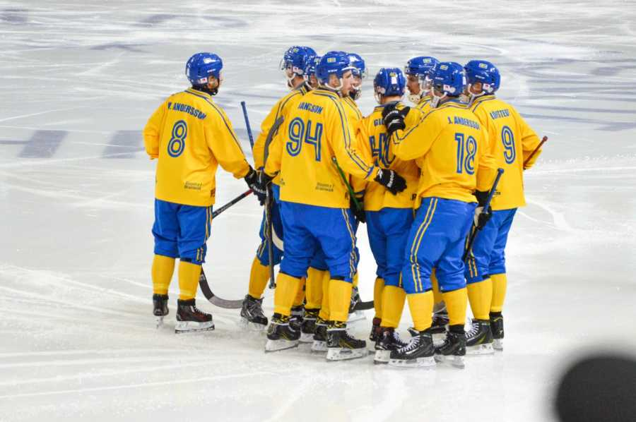 Сборная Российской Федерации похоккею смячом стала чемпионом мира