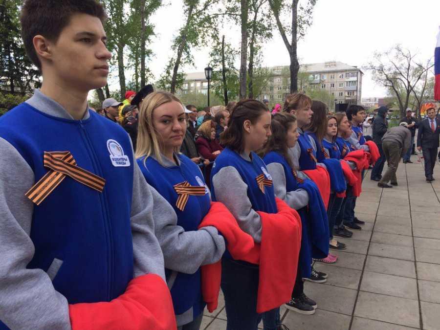 Волонтеры изУдмуртии встретят День Победы в столицеРФ иПитере